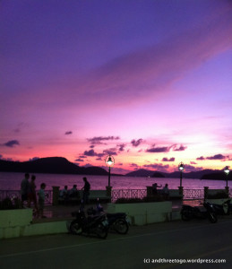 Cape Panwah Phuket at sunset