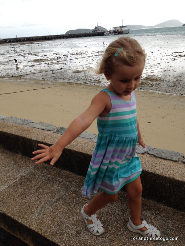 More of Z walking in Cape Panwah. I love her carefree attitude and bravery.
