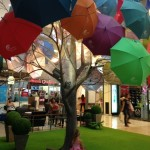 She also can't get enough of the rainy season decor at the Central Festival Mall in Phuket.