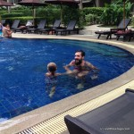 We went to a Sunday Brunch at the Doubletree by Hilton In Surin Beach and got to play in the pools before and after.